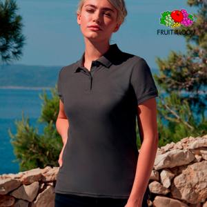 Ladies Premium Polo Manica Corta Donna