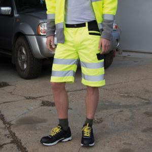 RER328X Cargo Shorts Da Lavoro Alta Visibilità Uomo